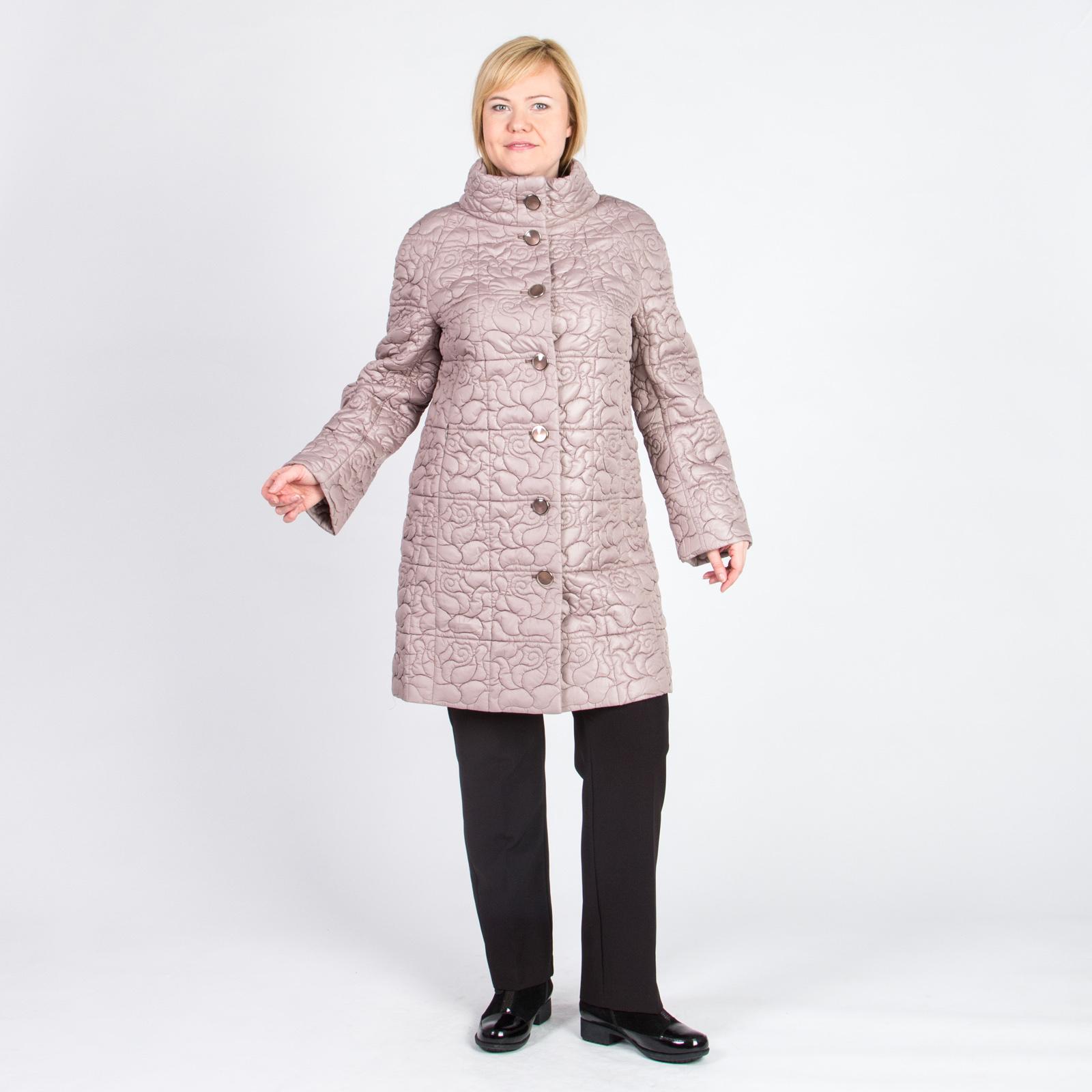 Пальто на пуговицах со стеганым узором