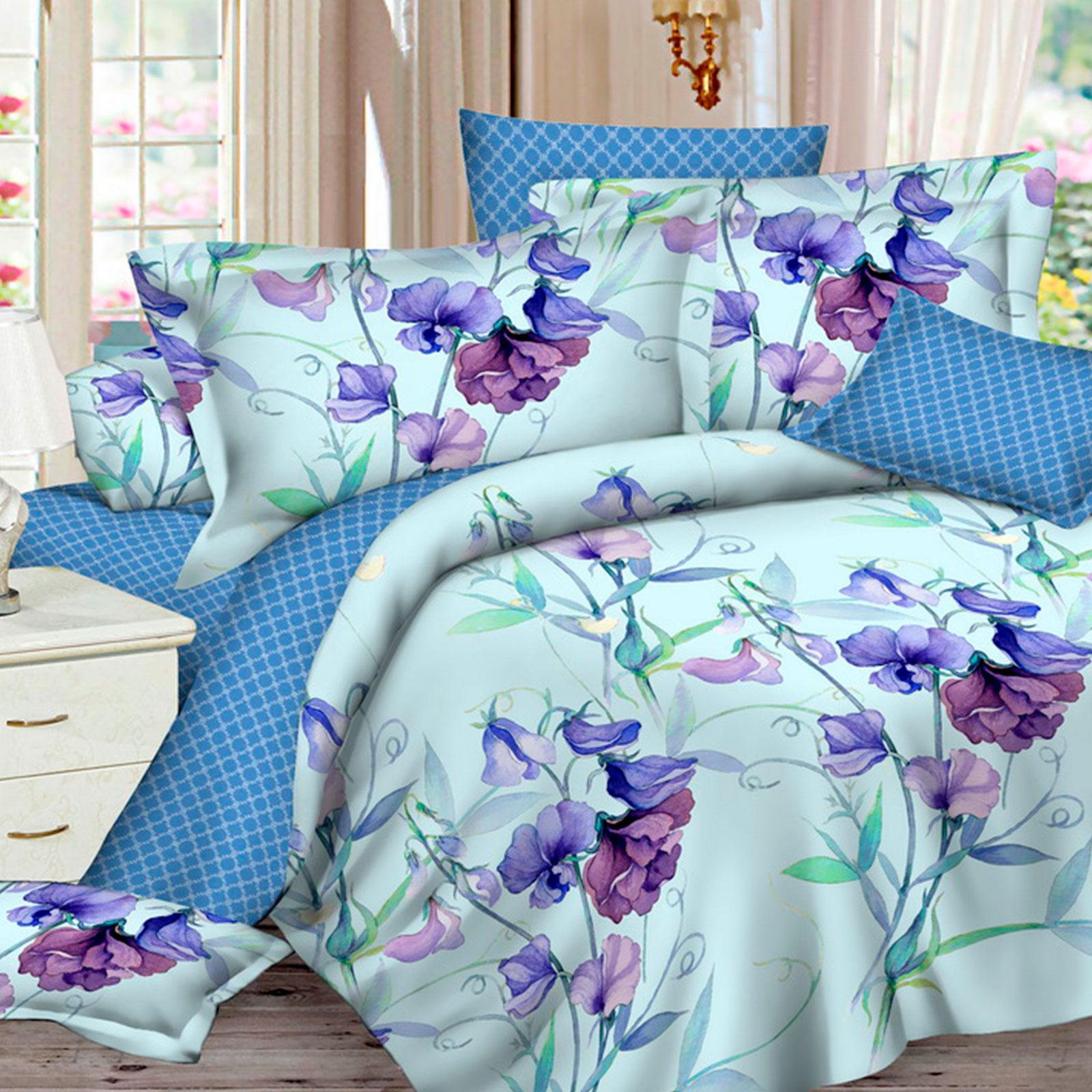Комплект постельного белья «Акварельные ирисы»