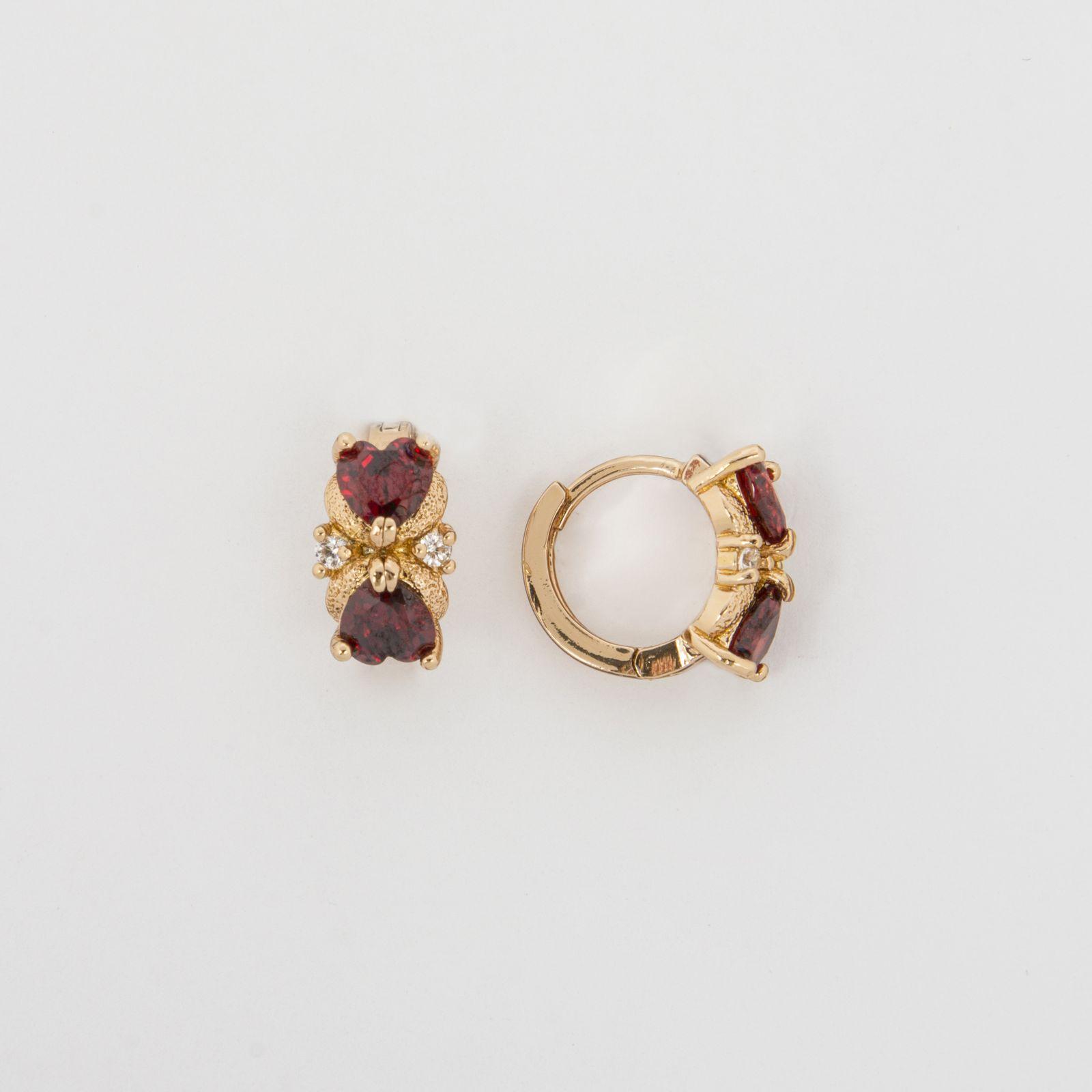 Серьги «Граненая роза»