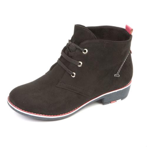 Женские ботинки на шнуровке декорированные строчкой