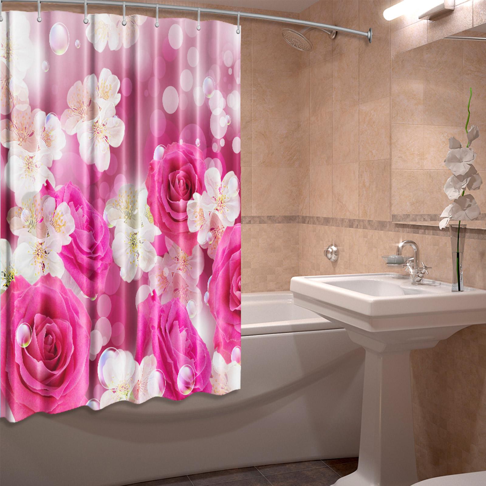 Штора для ванной комнаты «Цветочная магия»