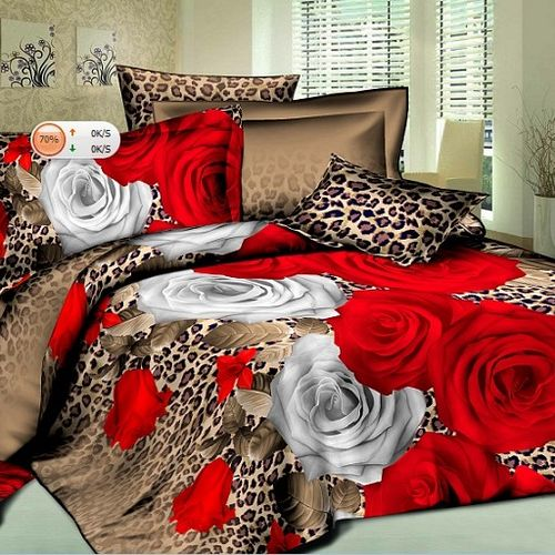Комплект постельного белья «Роза и леопард»