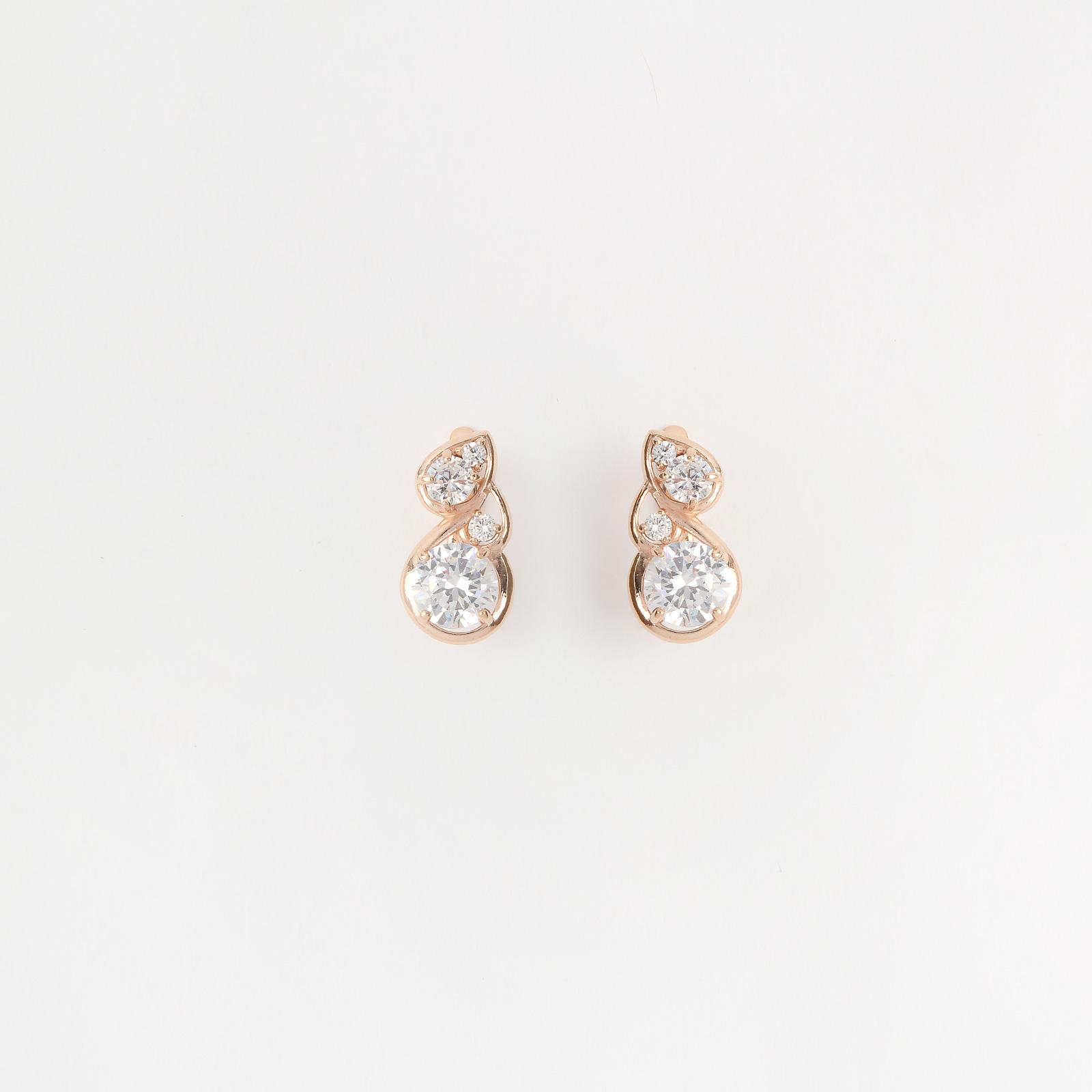 Серебряные серьги «Белоснежный Версаль»