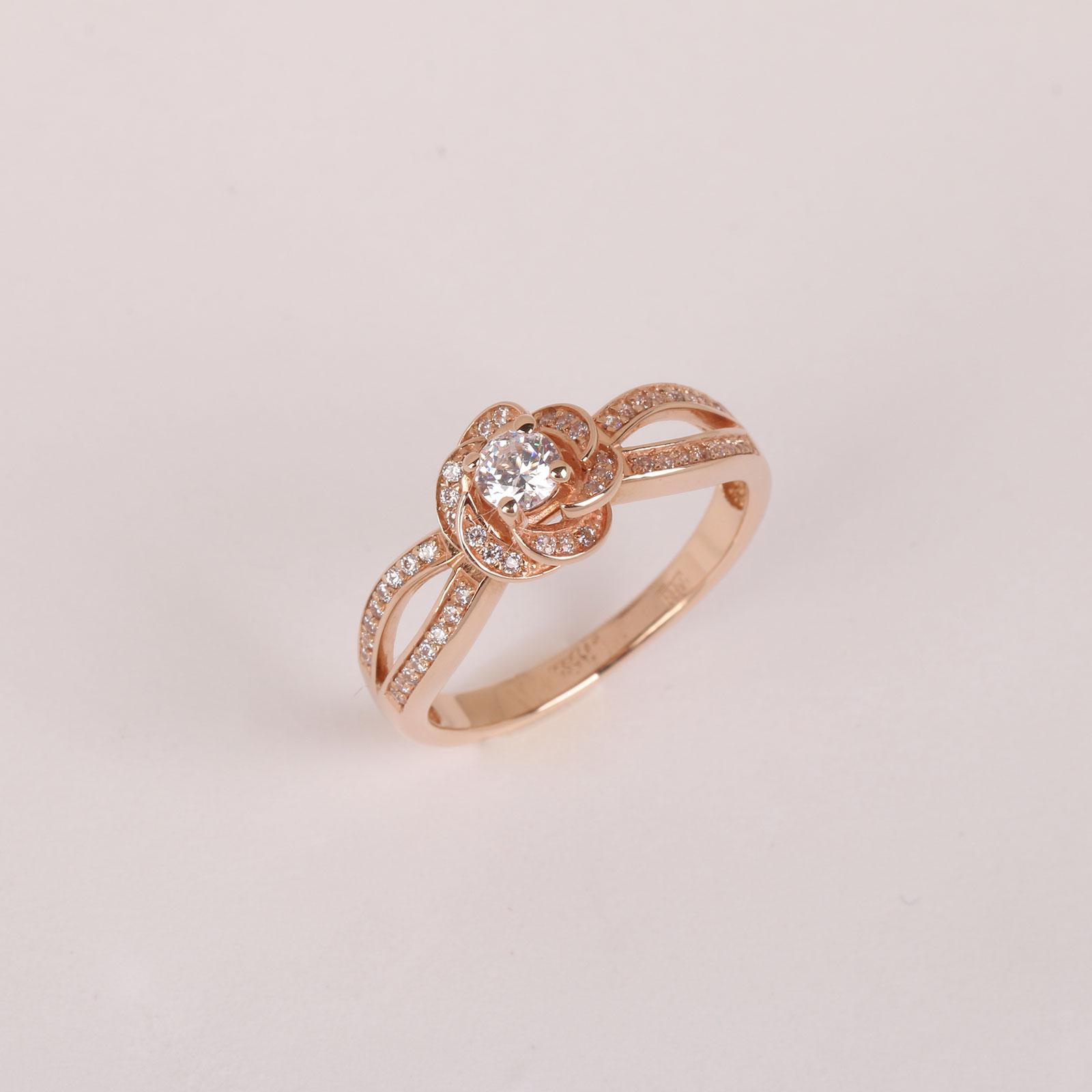 Золотое кольцо «Роза»