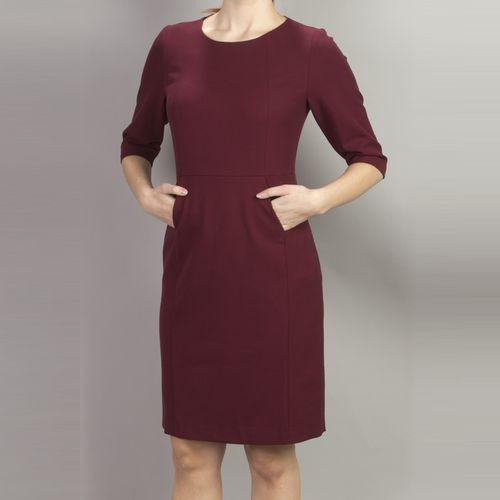 Платье с рукавом 3/4 и карманом «кенгуру» на подкладке