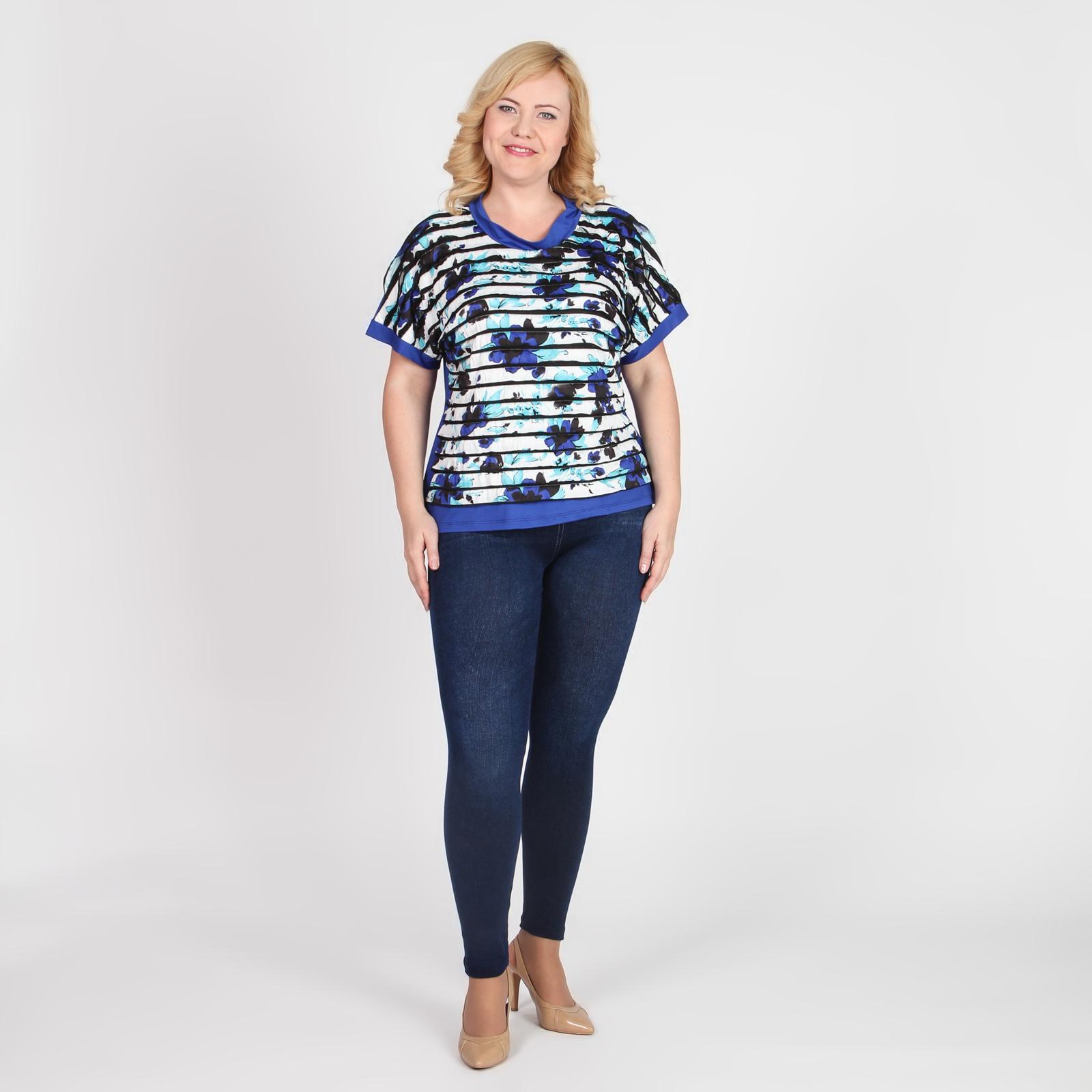 Блуза с коротким рукавом и оригинальным дизайном