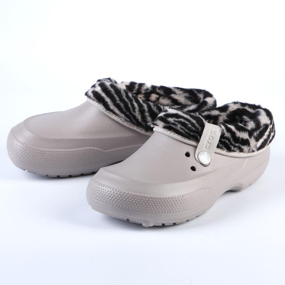 Сабо женские Crocs Animal Platinum