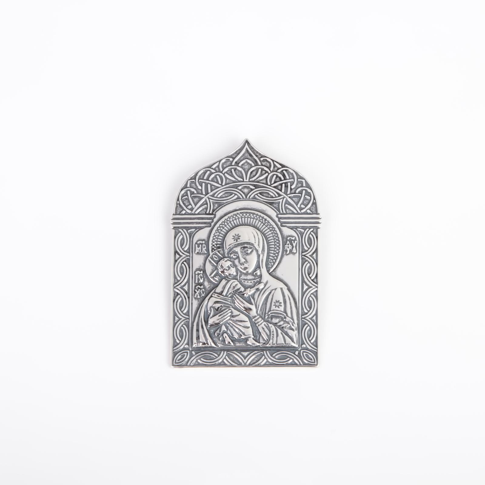 Серебряная плакетка