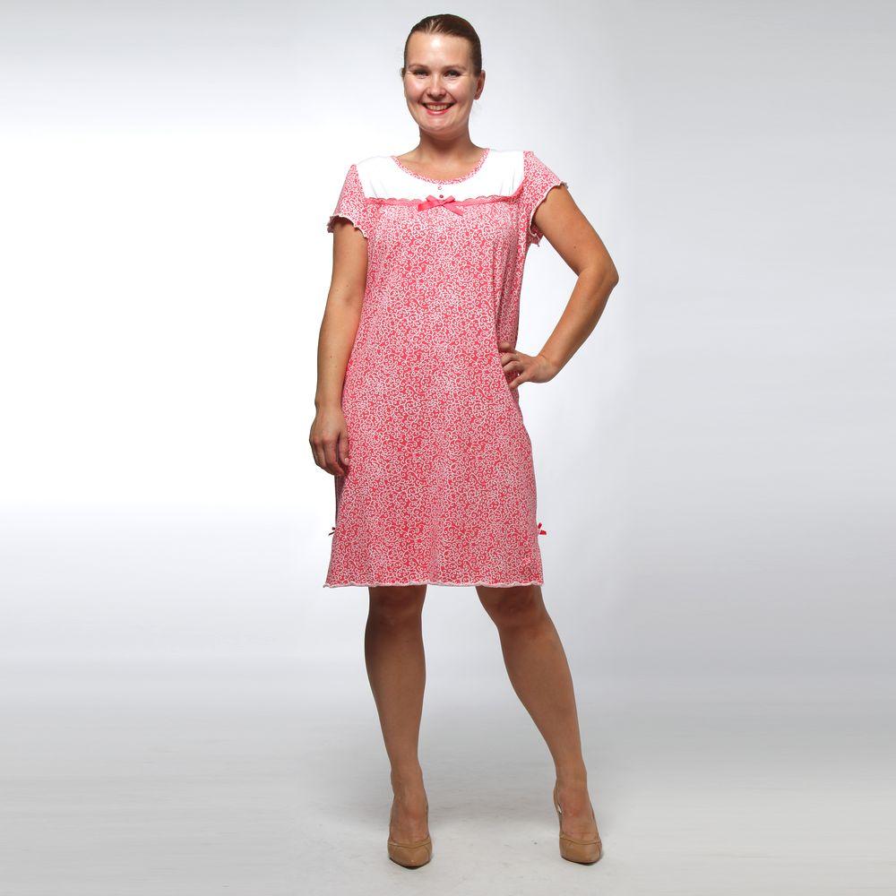 Платье женское с контрастной вставкой и цветочным принтом
