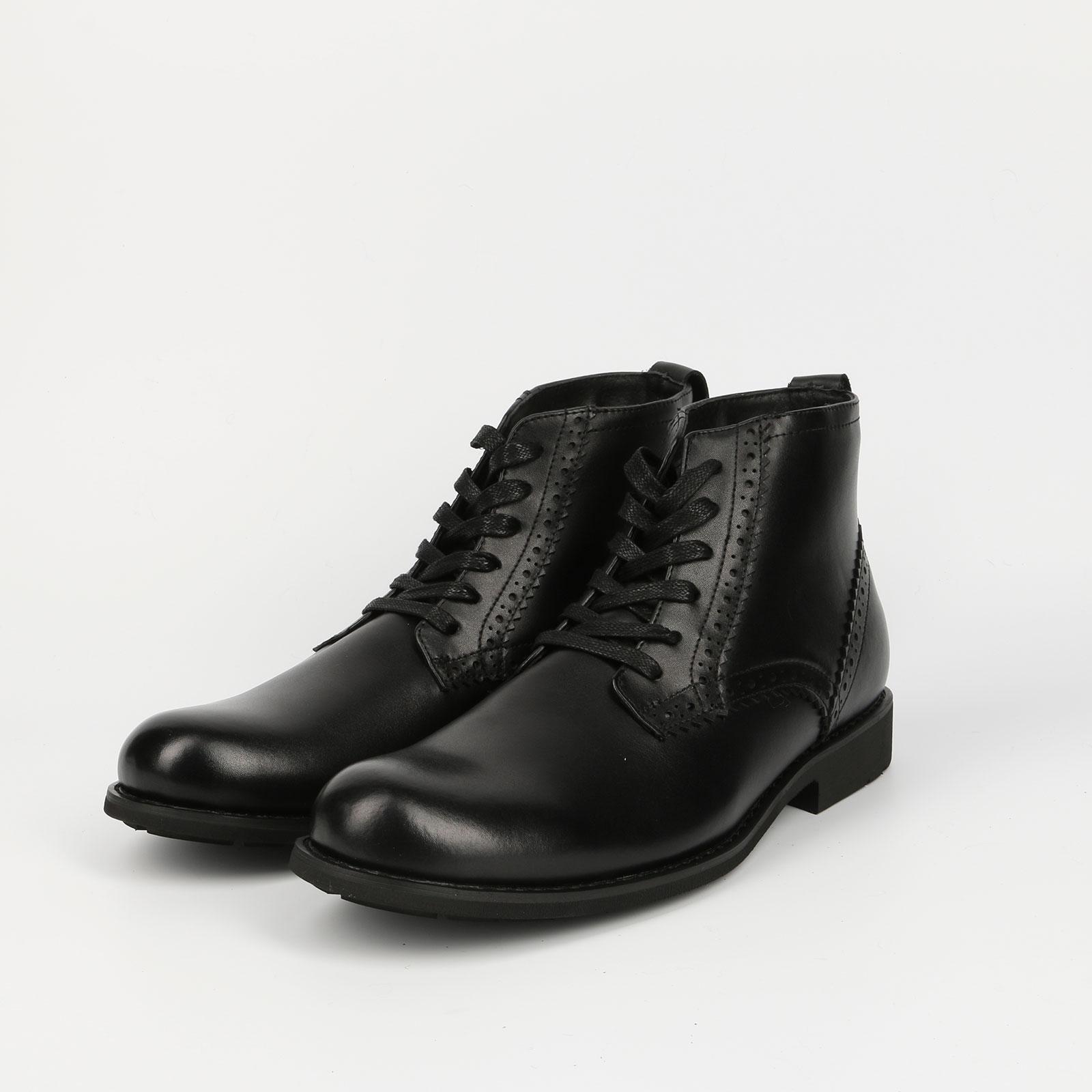 Ботинки мужские из кожи на шнуровке