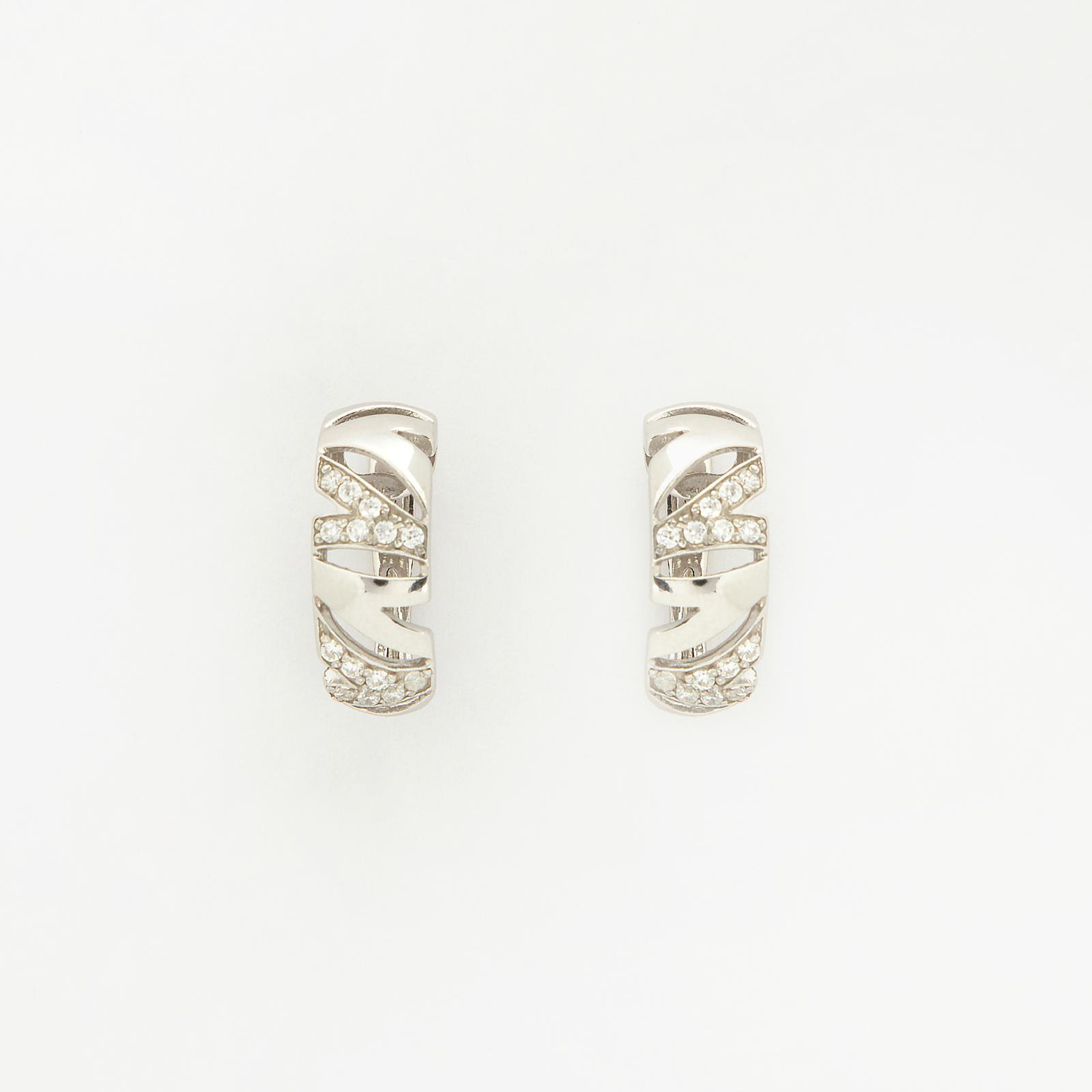 Серебряные серьги «Взгляд Катрин»