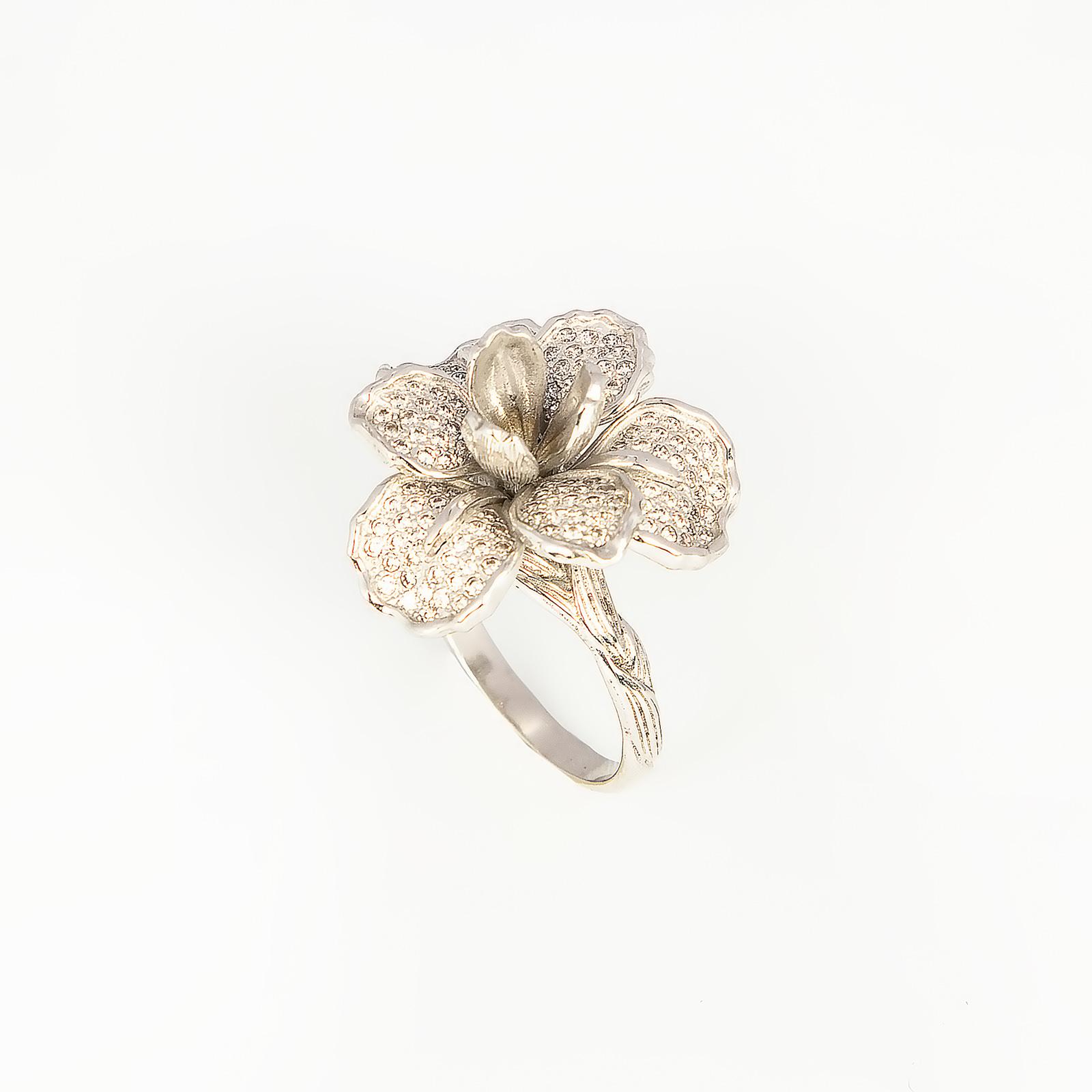 Серебряное кольцо «Душистый ирис»