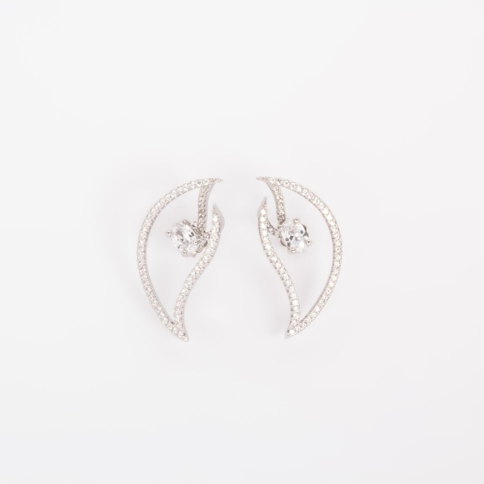 Серебряные серьги «Пламя циркония»