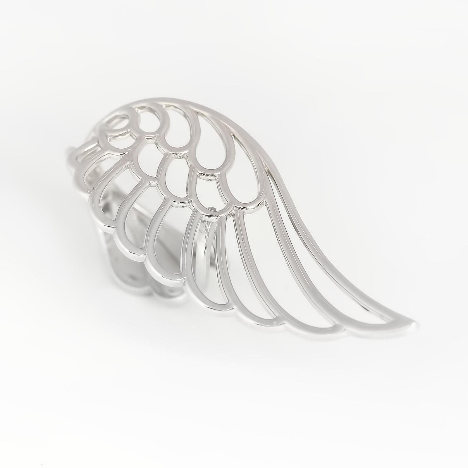 Серебряное кольцо «Крыло ангела»