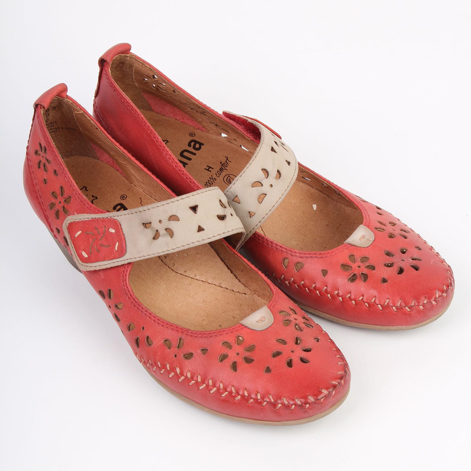 Туфли женские из натуральной кожи декорированные узорной перфорацией и прострочкой