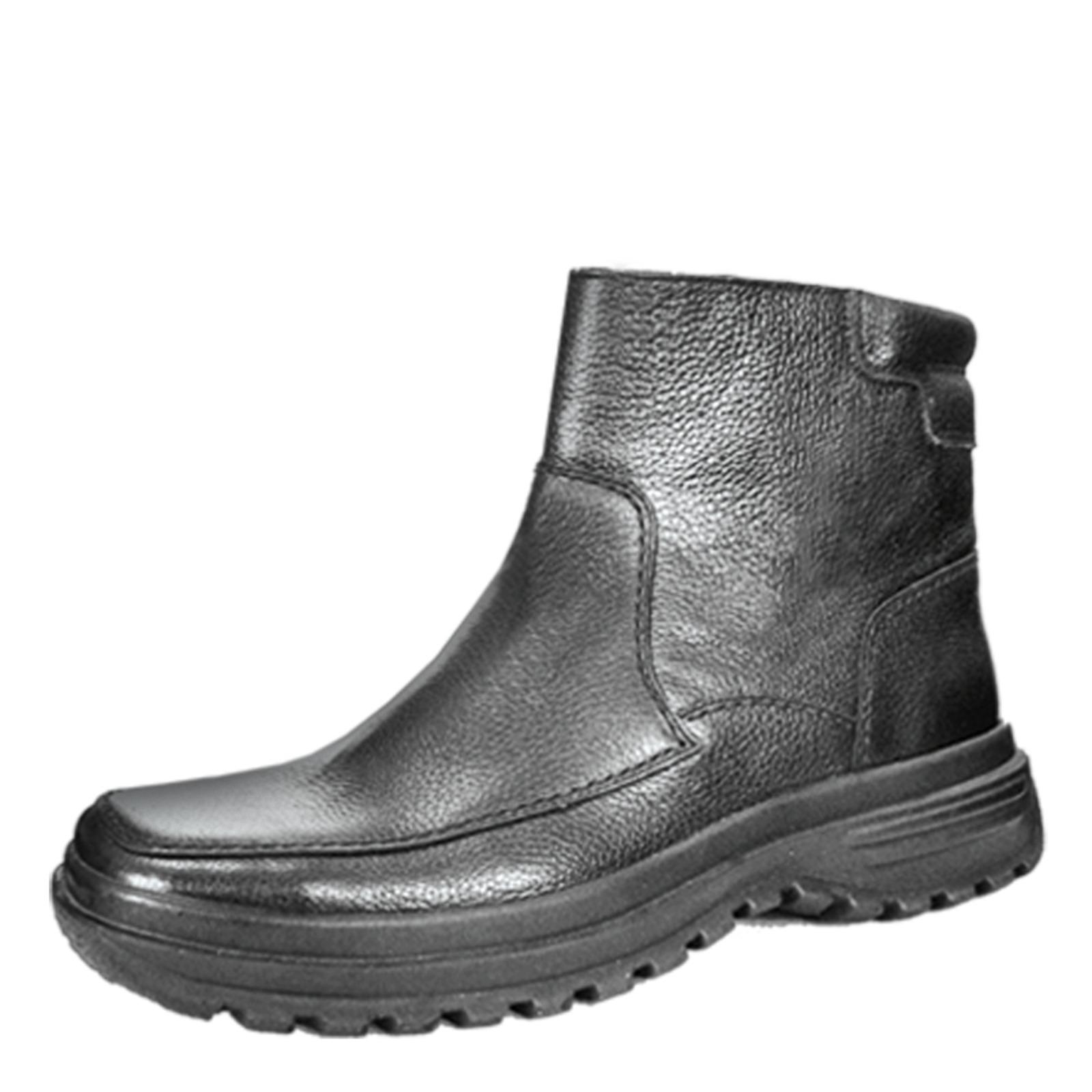 Зимние мужские ботинки со вставками