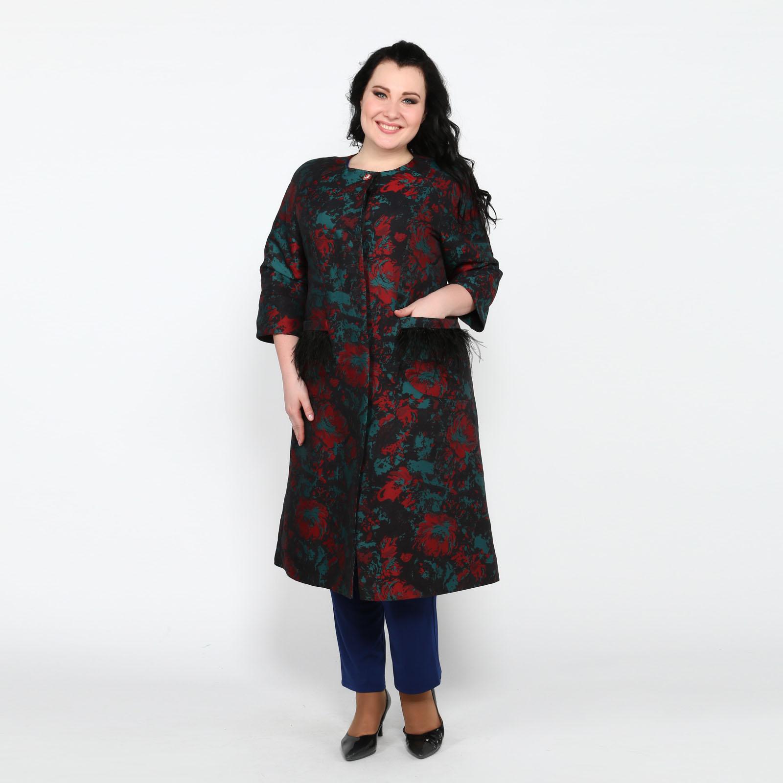 Пальто с декором на карманах