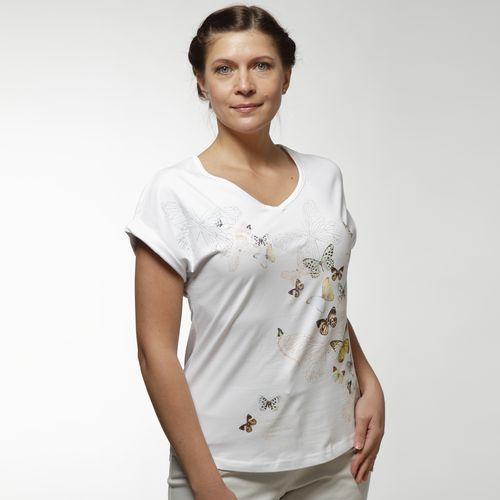 Женская блуза с принтом «Летние бабочки»