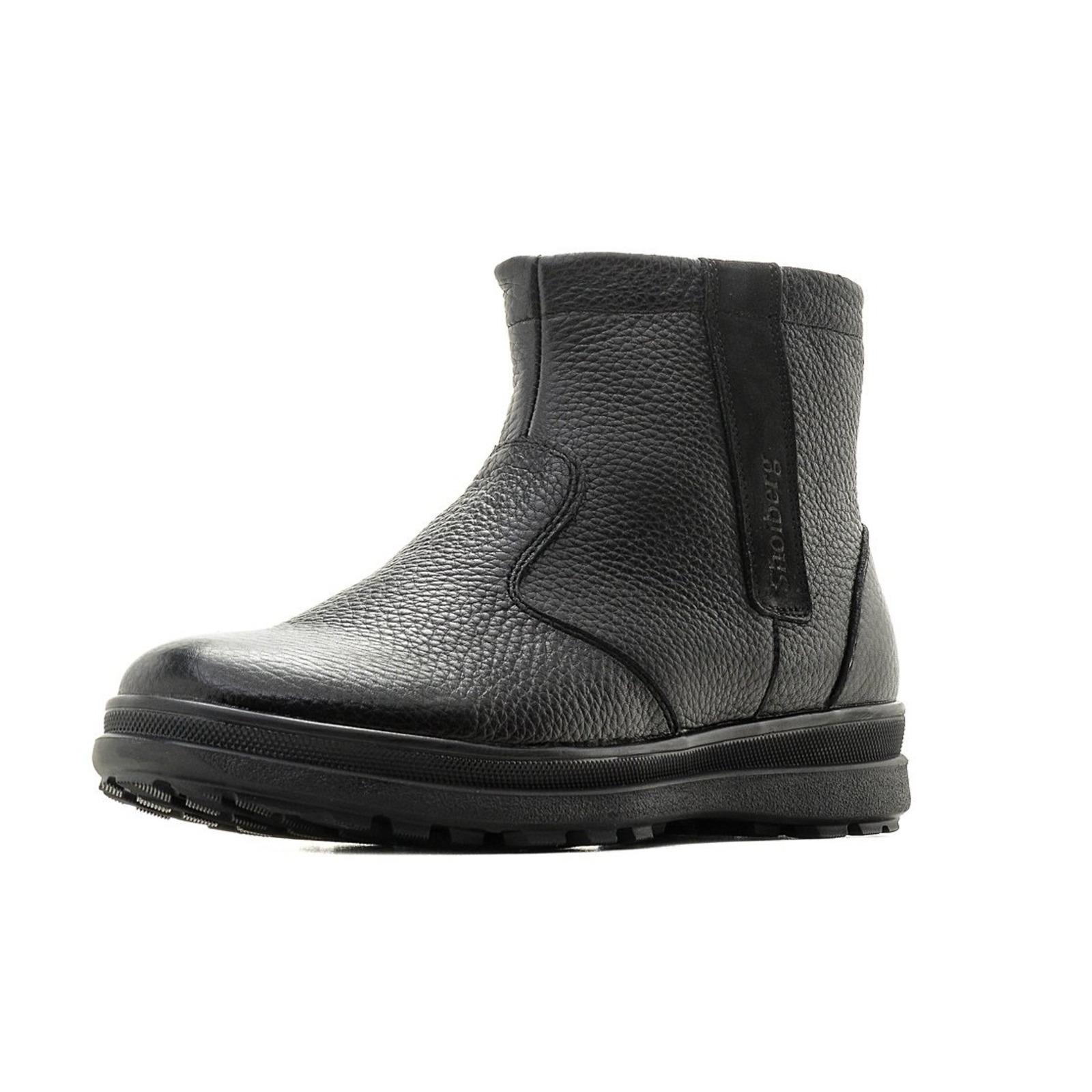 Мужские ботинки со вставкой из велюра