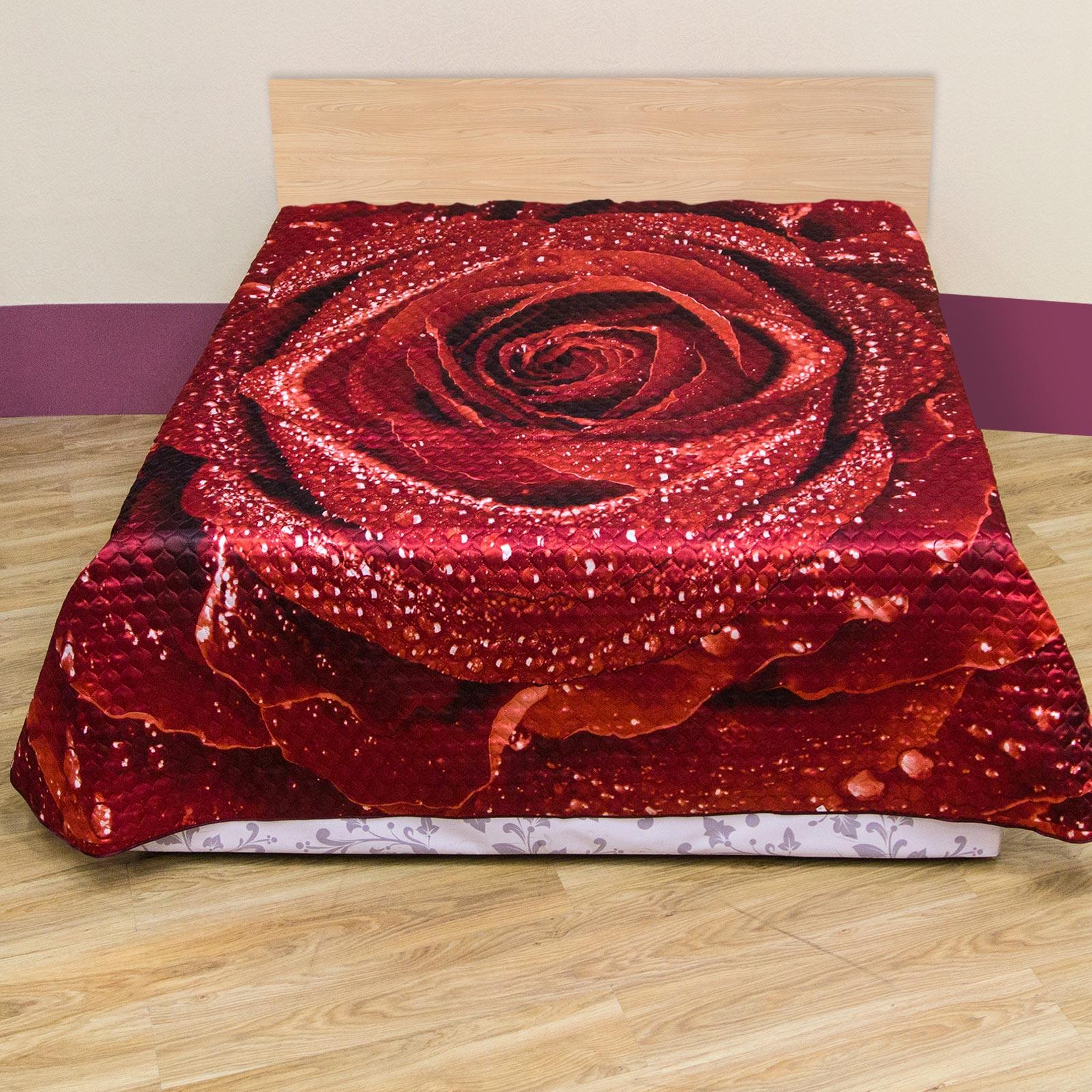 Покрывало стеганое «Бордовая роза»