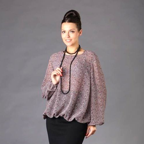 Блуза из струящегося шифона