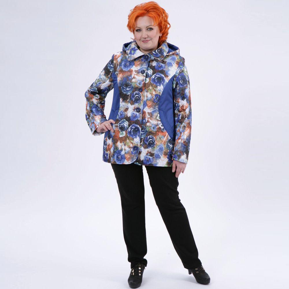 Куртка с шикарным цветочным принтом