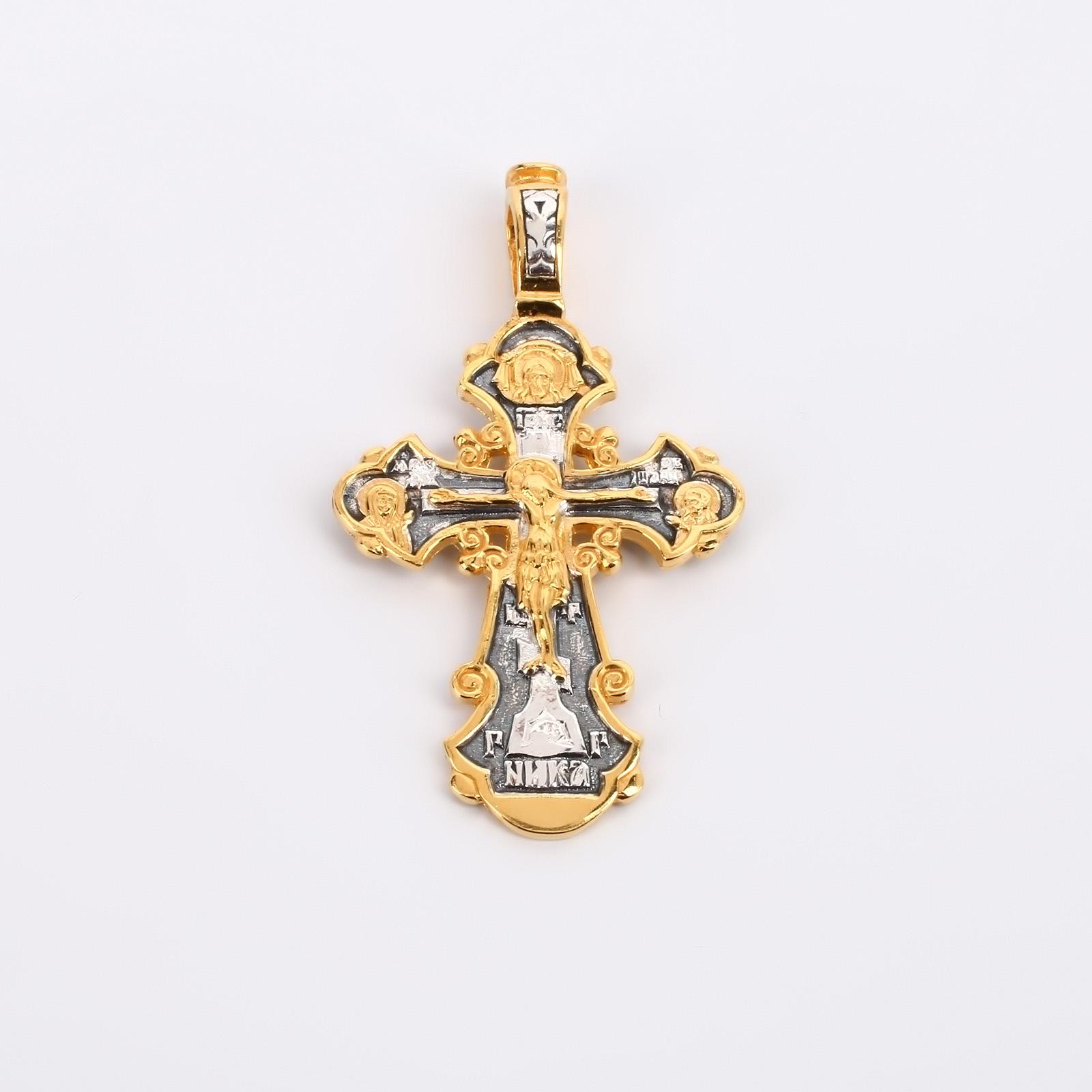 """Крест из серебра с золочением """"Молитва"""""""