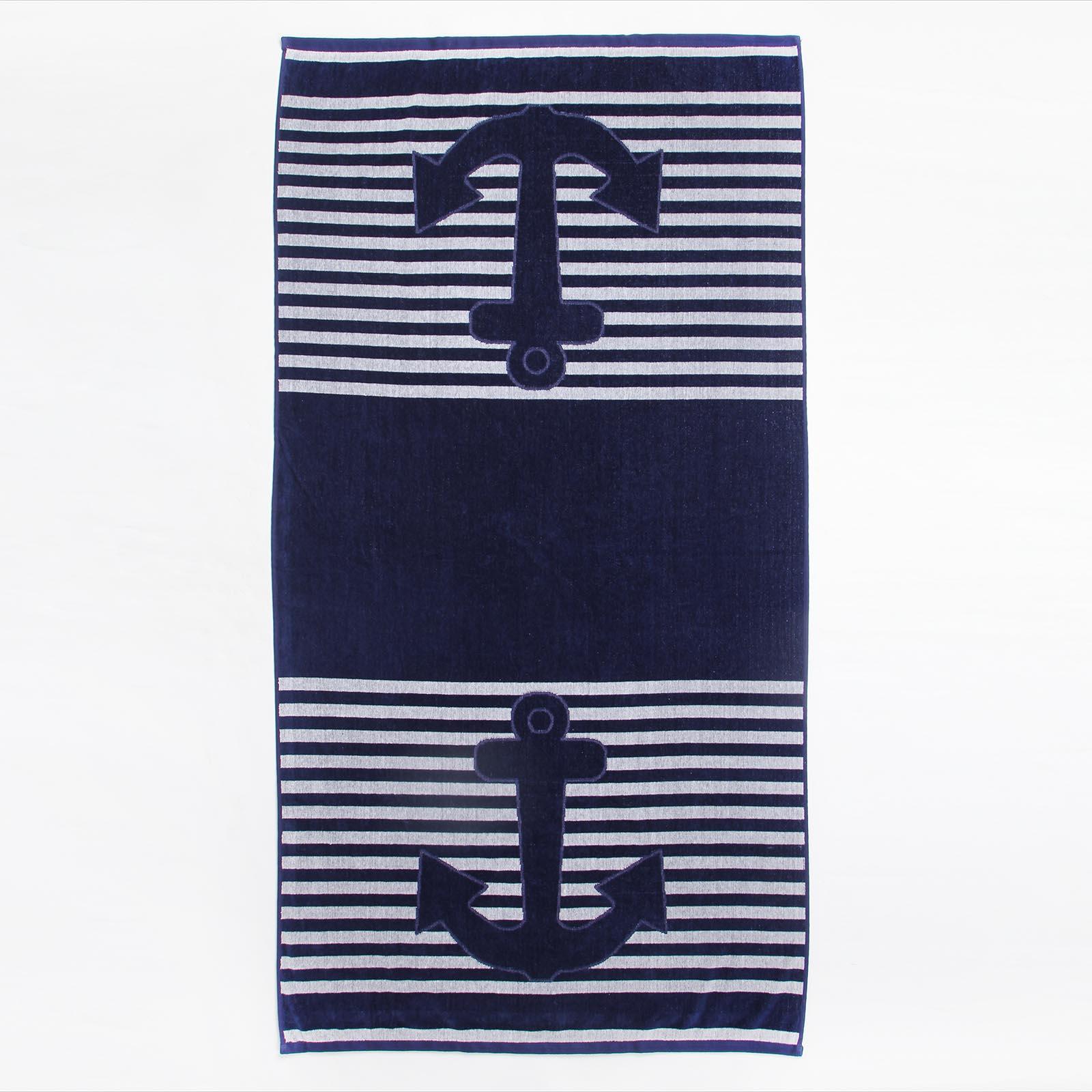 Полотенце пляжное из египетского хлопка «Морской бриз»