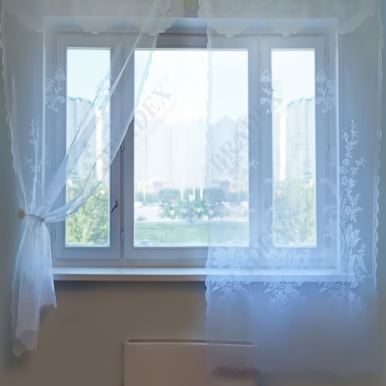 Комплект ажурных штор «Невеста»