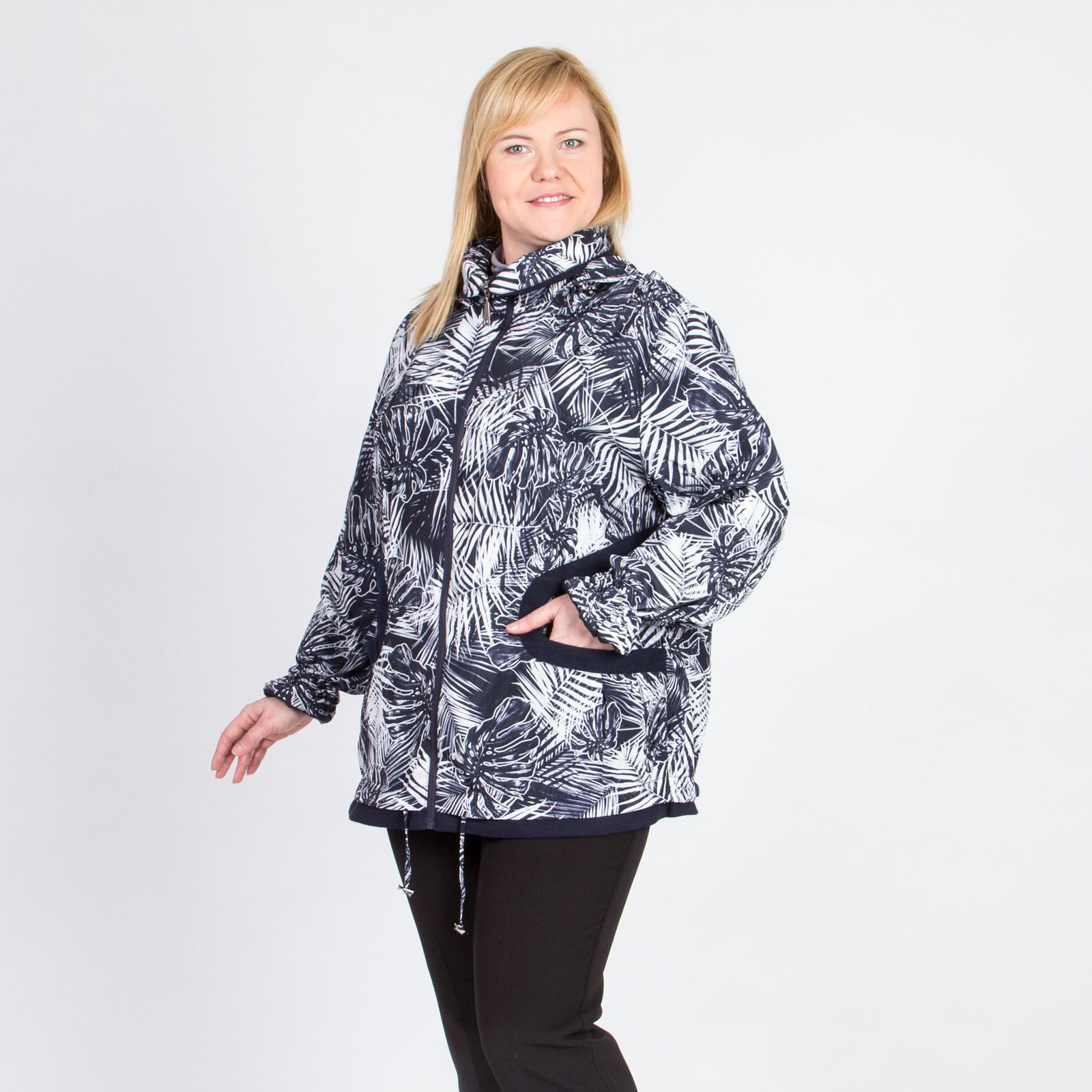 Ветровка на молнии с оригинальными карманами и принтом «Джунгли»