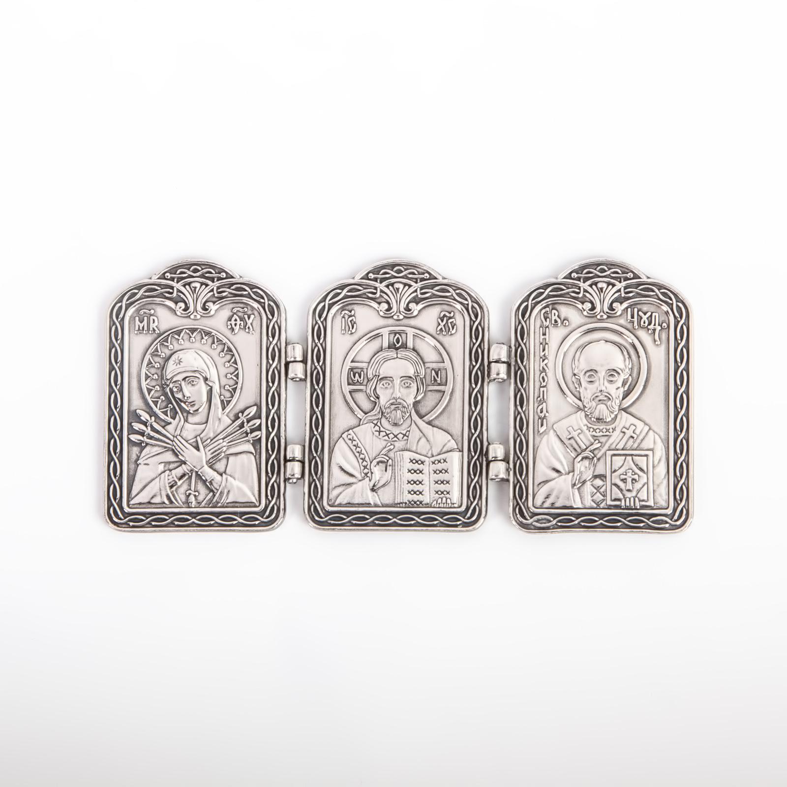 Серебряная плакетка сувенирная