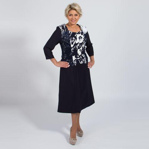 Платье-миди с рукавом 3/4 и съемным украшением