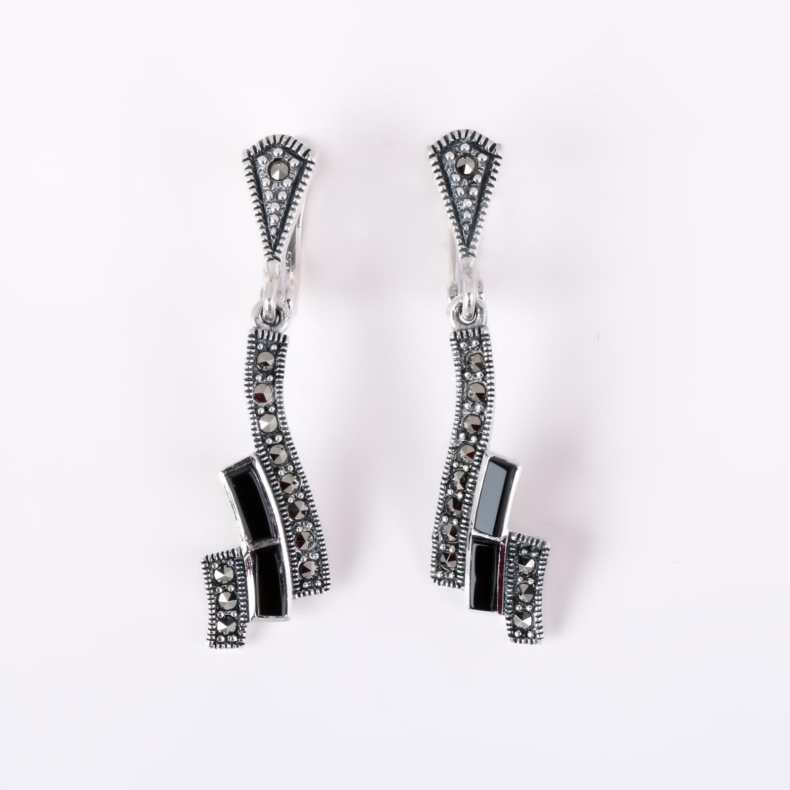 Серебряные серьги «Интрига»