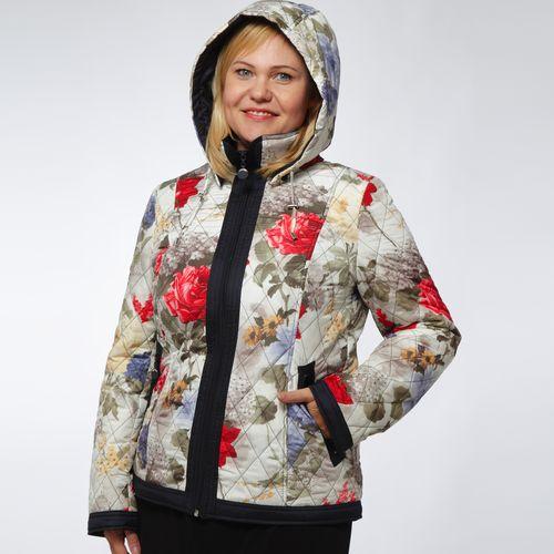 Куртка с цветочным принтом на молнии