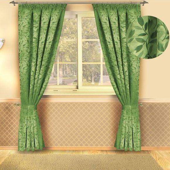 Комплект штор «Зеленые листья»