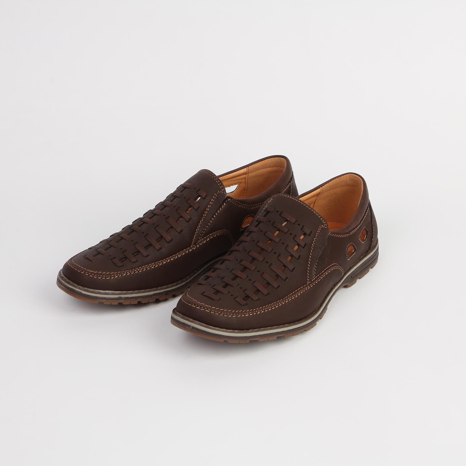 Туфли мужские с оригинальным тиснением на мысу