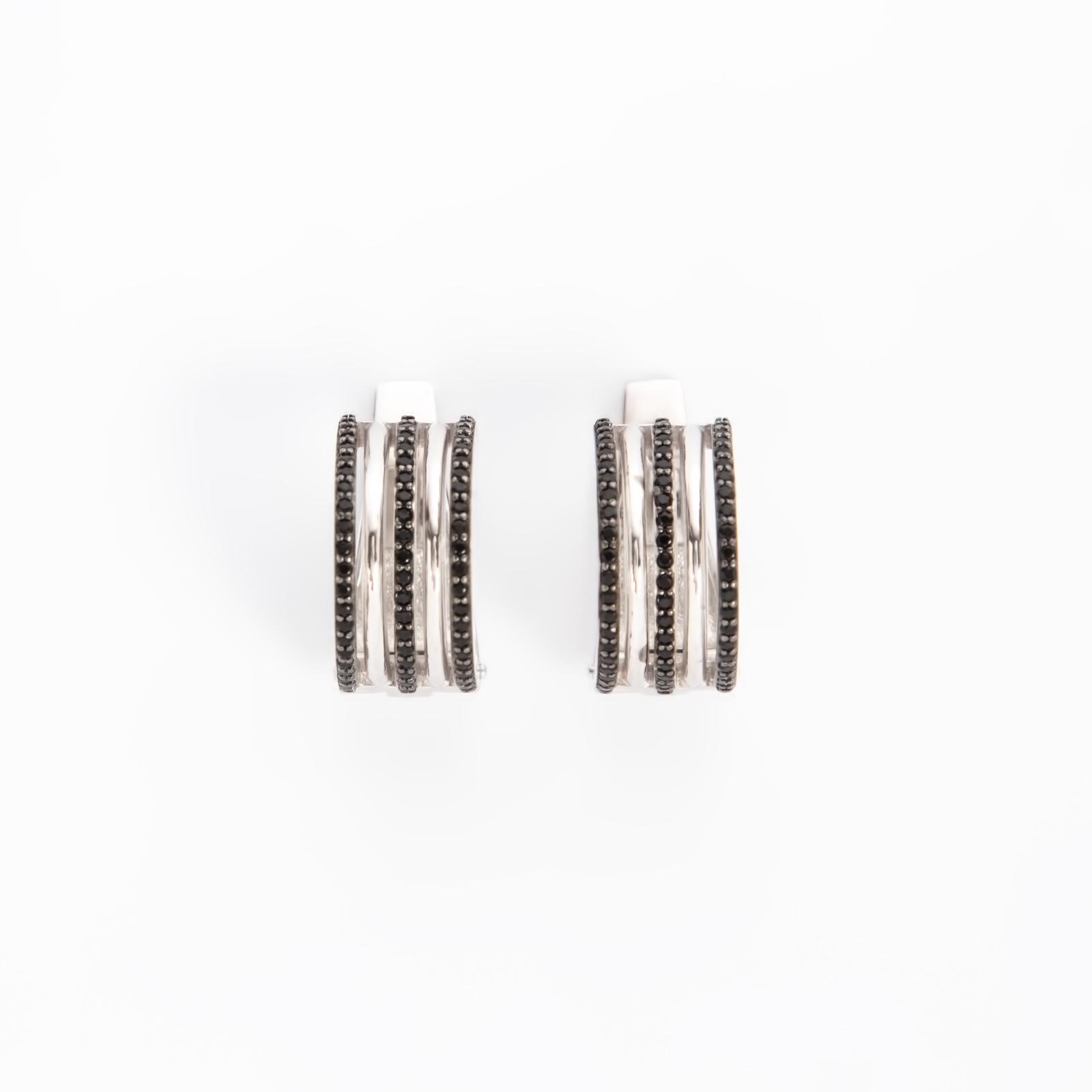 Серебряные серьги «Линия жизни»