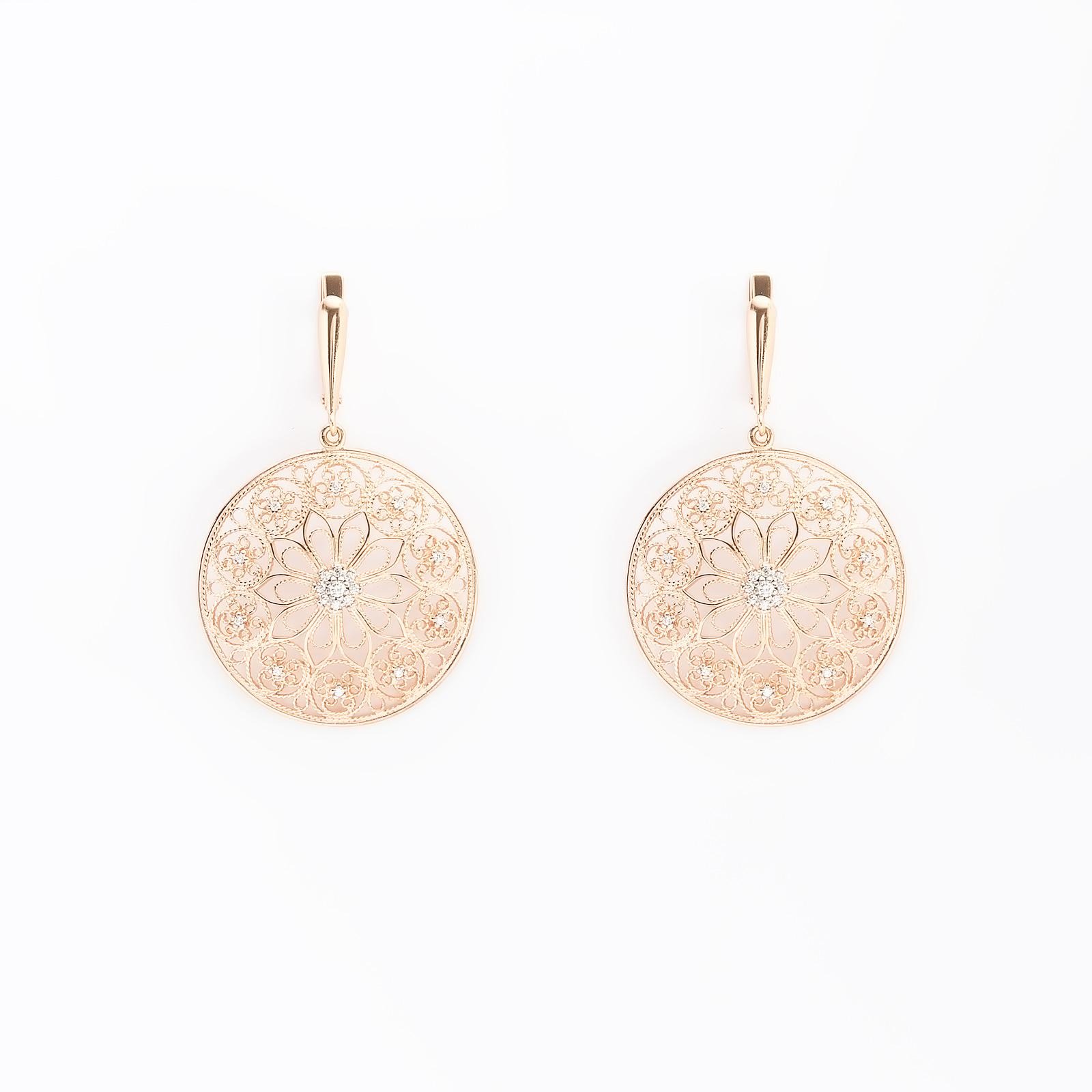 Серебряные серьги «Жасмин»