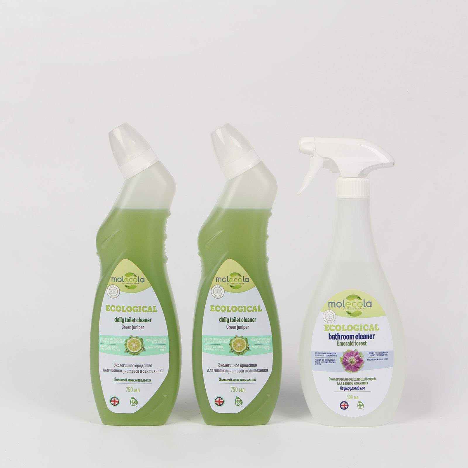 """Средство для чистки унитазов и сантехники """"Зеленый можжевельник"""", 2 шт."""