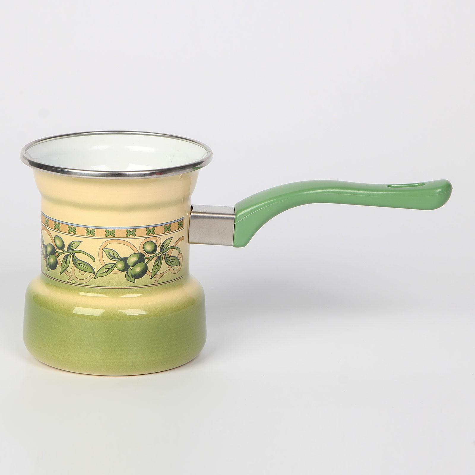 Турка эмалированная на 4 чашки