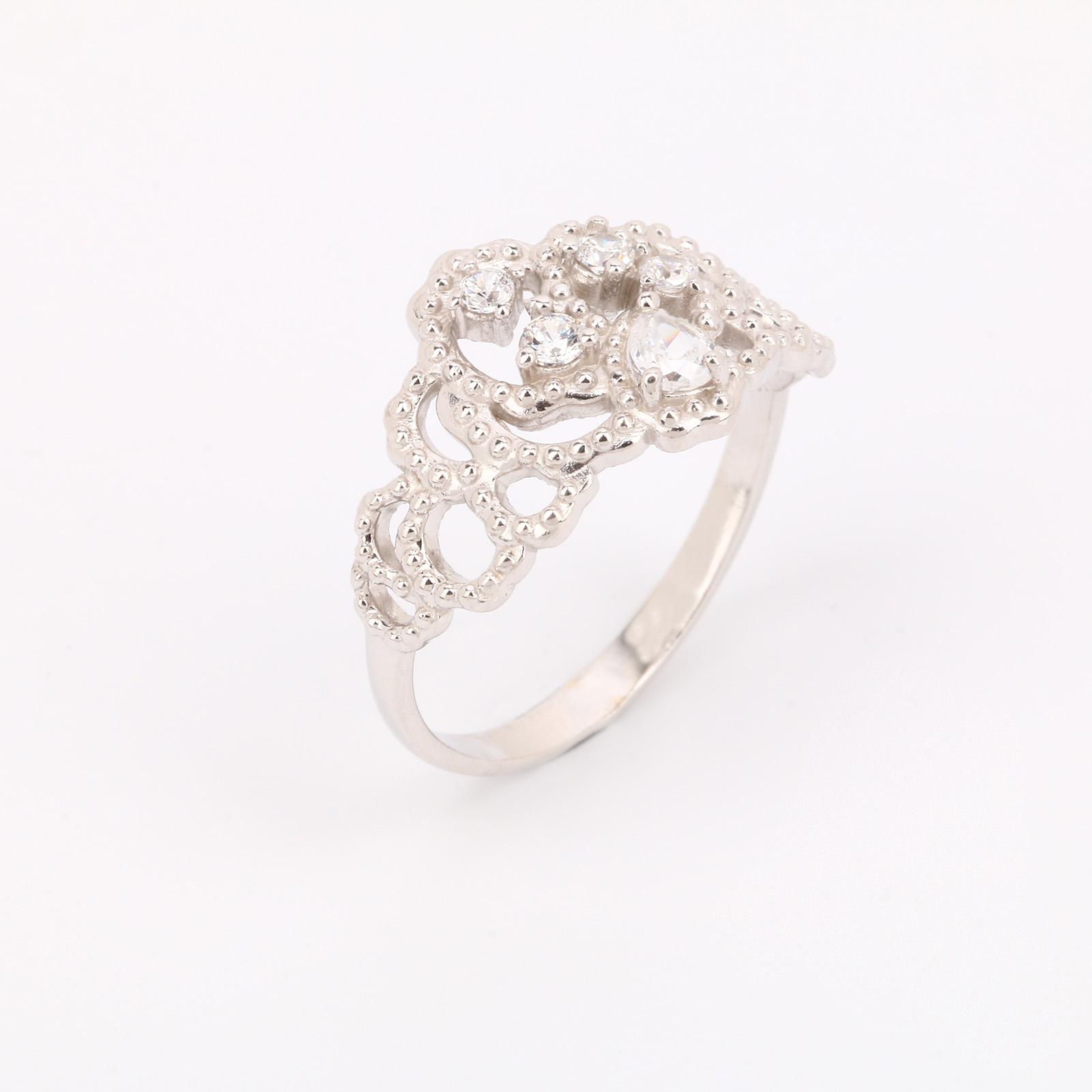 """Серебряное кольцо """"Безупречность кристаллов"""""""