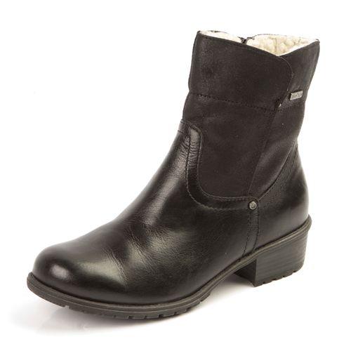 Женские ботинки из натуральной кожи на молнии