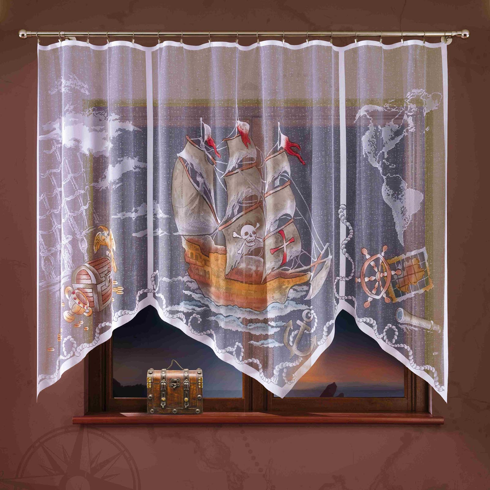 Тюль детский «Пиратский корабль»