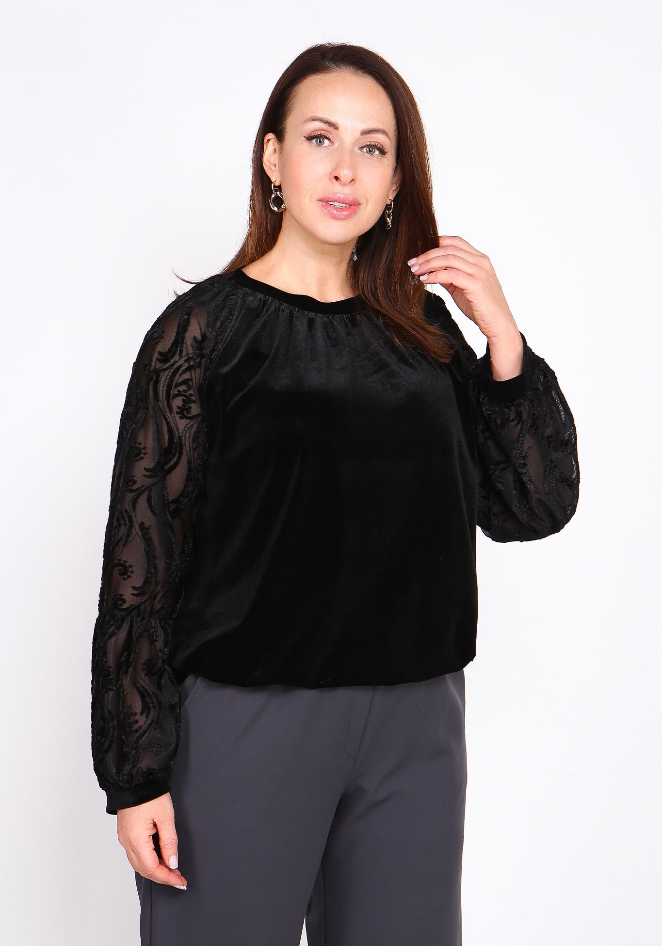 Блуза с широкими кружевными рукавами