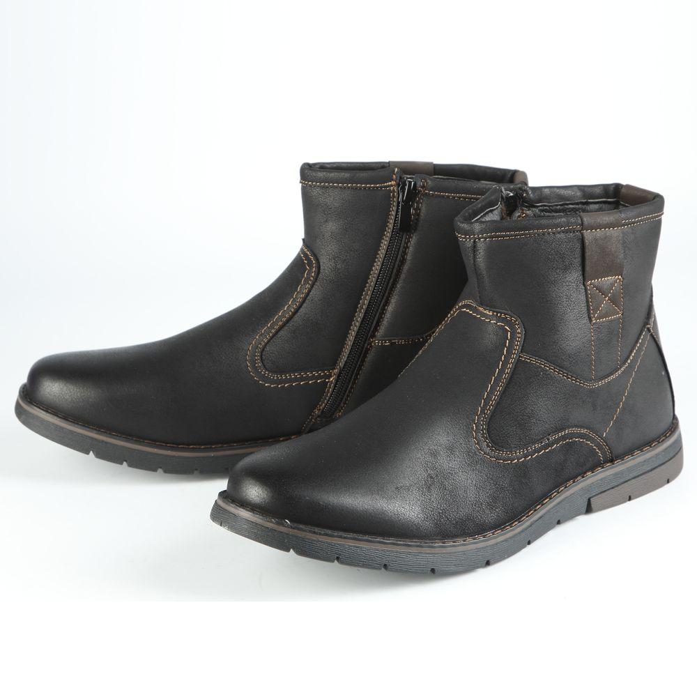 Ботинки мужские комфортные с декоративной отделкой