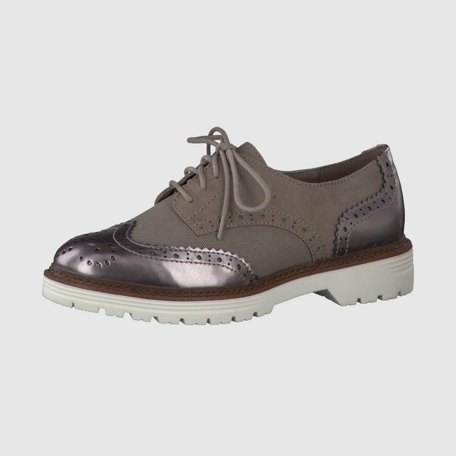 Ботинки женские со вставками на шнуровке