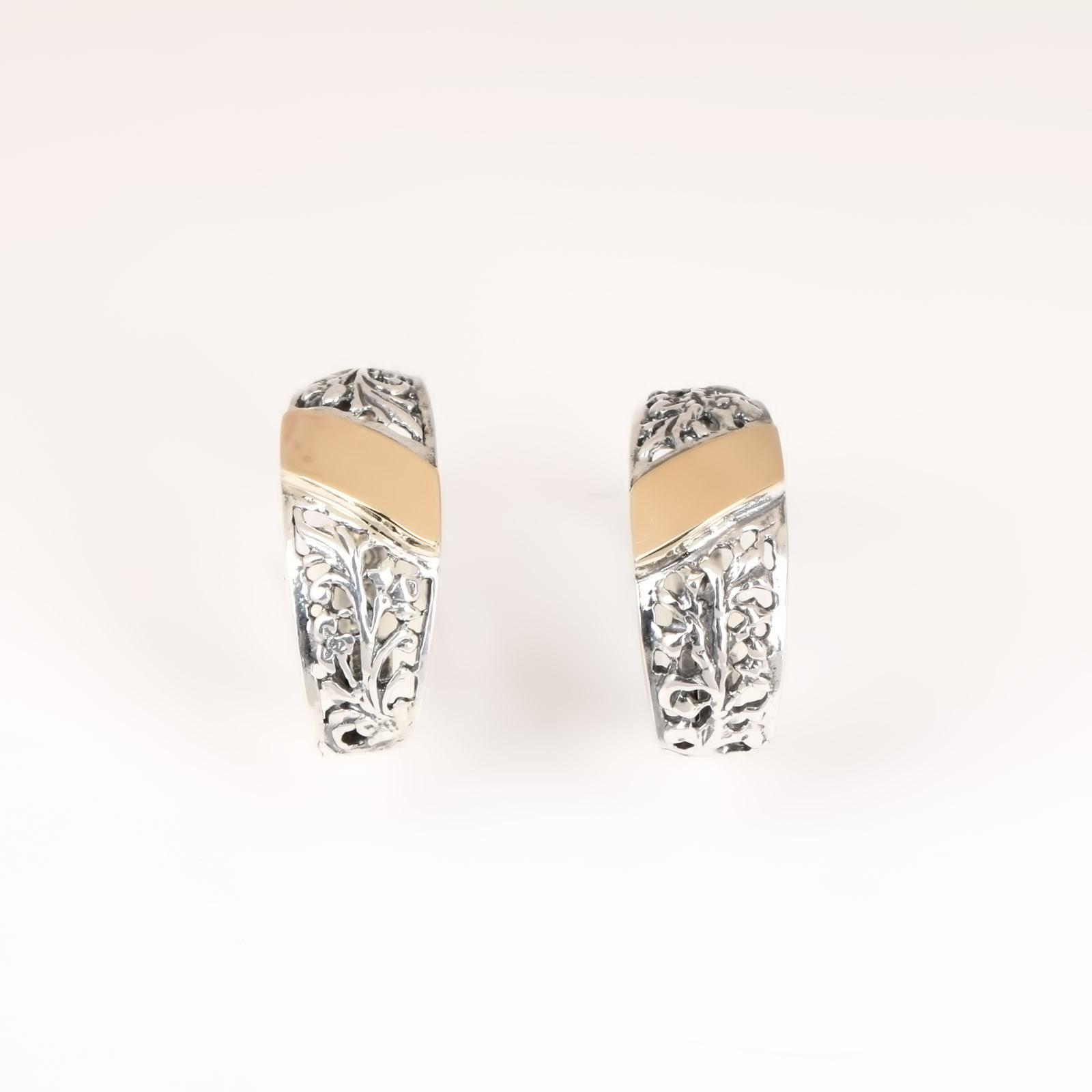 Серебряные серьги «Вершина творения»