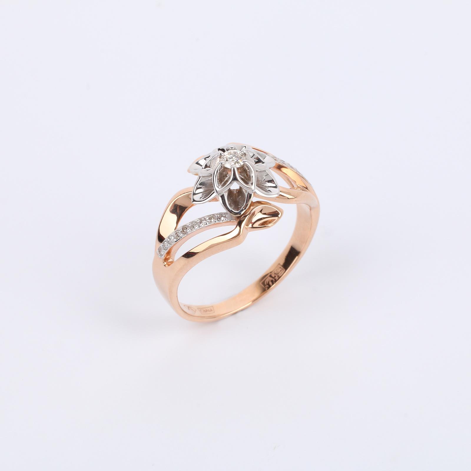 """Золотое кольцо """"Завораживающая Магнолия"""""""