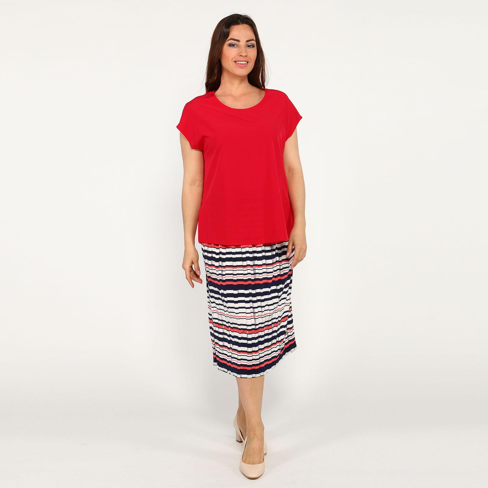 Блуза с коротким рукавом и V-образным вырезом