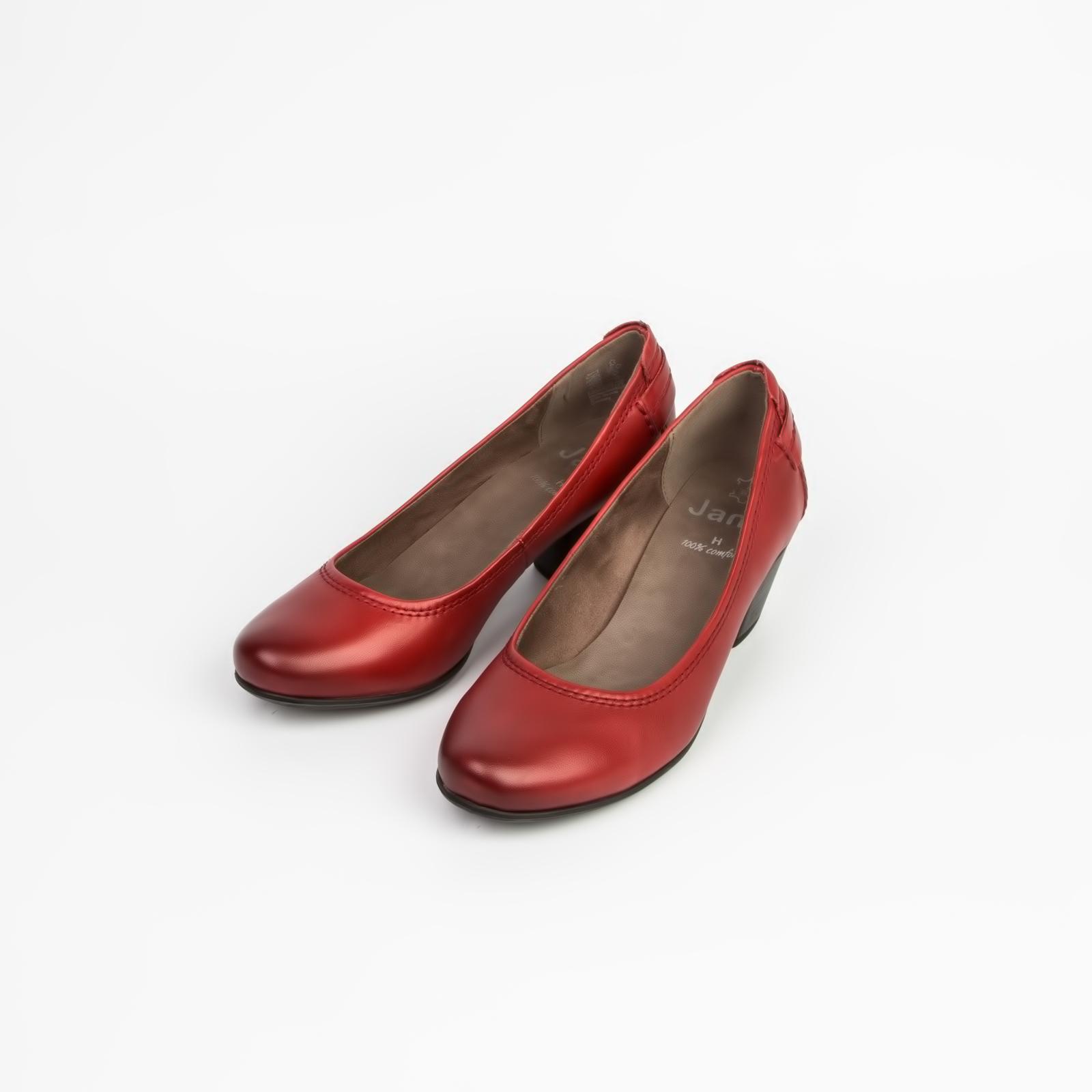 Туфли женские из натуральной кожи на удобном каблуке